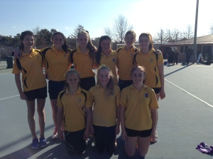 Junior Girls Netball team 2015